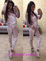Женский велюровый спортивный костюм в расцветках w-205333