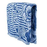 Синие банное полотенце