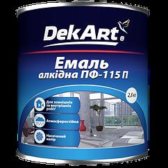 Эмаль алкидная  DekArt ПФ-115П, белая глянцевая 2,8 кг