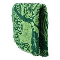Банное полотенце зеленого цвета