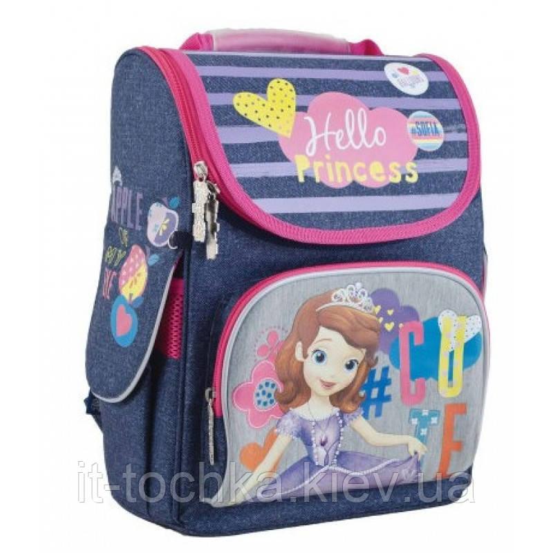 Школьный каркасный рюкзак 1 вересня h-11 sofia blue (553267)