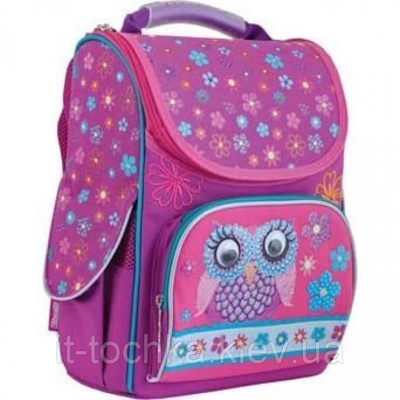 Школьный каркасный рюкзак 1 вересня h-11 owl для девочки (553281)