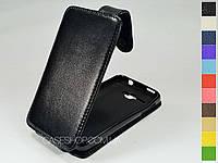 Откидной чехол из натуральной кожи для Alcatel 5035D One Touch X'Pop