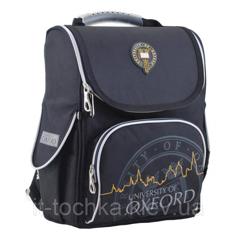 Рюкзак школьный каркасный  yes  h-11 oxford black, 34*26*14