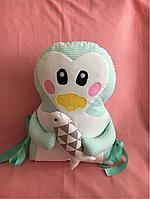 Пингвин, подушка бортик в детскую кроватку.