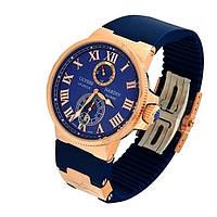 Подарок руководителю мужчине - Часы Ulysse Nardin Maxi Marine Blue 14, фото 1
