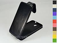Откидной чехол из натуральной кожи для Alcatel 6030D One Touch Idol
