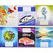 Тетрадь цветная 18 листов, клетка «Мрії» «mix»