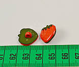 Пуговицы детские в виде клубнички на ножке П-028, фото 2