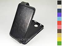 Откидной чехол из натуральной кожи для Alcatel 8000D One Touch Scribe Easy