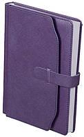 Ежедневник А5 датированный 2018 Buromax Credo, фиолетовый (кремовый блок) BM.2130-07