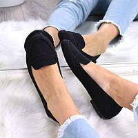Туфли балетки женские Inna черные 3525 , балетки женские