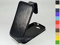 Откидной чехол из натуральной кожи для Alcatel 7041D OneTouch POP C7