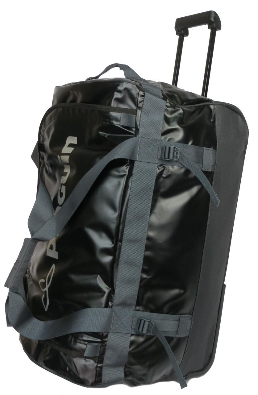 Большая крепкая дорожная сумка на колесах 100 л. PINGUIN ROLLER DUFFLE BAG 100, PNG 4021.01 черный