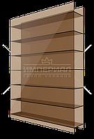 Сотовый поликарбонат 10мм TM SMART бронзовый
