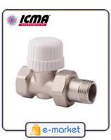 Прямой терморегулирующий вентиль простой регулировки ICMA 1\2 - 28х1,5. Арт. 775. Италия