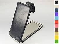 Откидной чехол из натуральной кожи для Prestigio MultiPhone Grace 7557