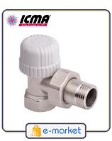 Угловой термостатический вентиль с предварительной настройкой ICMA 1\2 - 30х1,5. Арт. 778. Италия