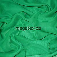 Шифон ткань однотонный зеленый