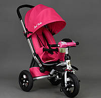 Трехколёсный детский велосипед колясочного типа Best Trike 698 розовый
