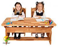 Парта растишка для двох дітей без ящика Mobler 120 см