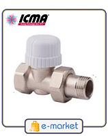 Прямой термостатический вентиль с предварительной настройкой ICMA 1\2 - 30х1,5. Арт. 779. Италия