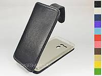 Откидной чехол из натуральной кожи для Acer Liquid E700