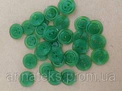 Пуговица спецовочная 2 удара  арт.100009 Д-14мм УП100шт. Ц.Зеленый