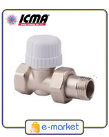 Прямой термостатический вентиль с предварительной настройкой ICMA 3\4 - 30х1,5. Арт. 779. Италия