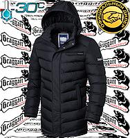 Длинная зимняя куртка мужская Braggart - 2755#2756 черный