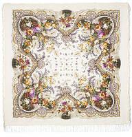 Отрада 678-2, павлопосадский платок шерстяной  с шерстяной бахромой   Первый сорт    СКИДКА!!!