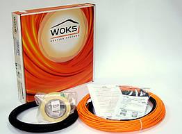 Woks-10 - 77м (800 Вт) тонкий нагрівальний кабель двожильний екранований (Одескабель)
