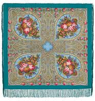 Осенние кружева 1471-11, павлопосадский платок шерстяной с шелковой бахромой   Первый сорт    СКИДКА!!!