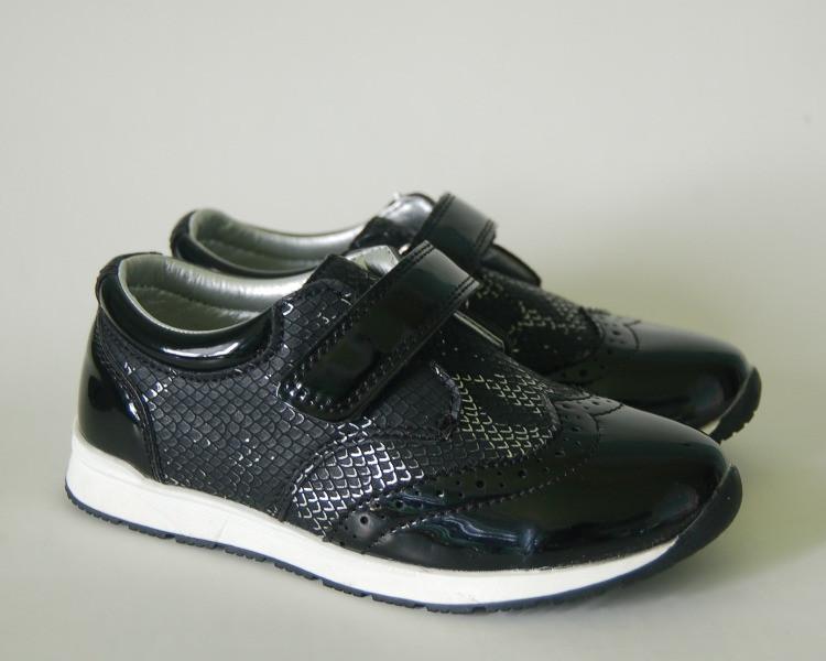 Туфли для девочки ТМ Apawwa.MaiQi чёрного цвета 26, 29р