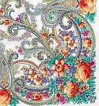 Милый друг 1345-2, павлопосадский платок шерстяной  с шелковой бахромой, фото 2
