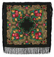 Незнакомка 779-18, павлопосадский платок шерстяной  с шелковой бахромой   Первый сорт    СКИДКА!!!