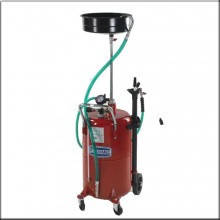 Комбинированная установка для замены масла емкостью 80л.и стальным сливом для масла 10л., фото 2