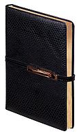Ежедневник А5 датированный 2018 Buromax Reptile, черный (кремовый блок) BM.2131-01