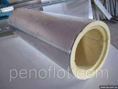 Сегменты ППУ ф 108 с покрытием фольгопергамина