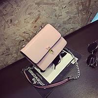 Стильная женская сумка на плечо FENDI Kan I розового цвета