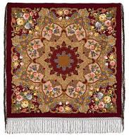 Радоница 920-7, павлопосадский платок (шаль) из уплотненной шерсти с шелковой вязанной бахромой   Стандартный сорт