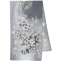 Лунная мелодия 1513-2, павлопосадский шарф шелковый крепдешиновый с подрубкой   Первый сорт    СКИДКА!!!