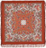 Откровение 1551-3, павлопосадский платок шерстяной с шерстяной бахромой   Стандартный сорт