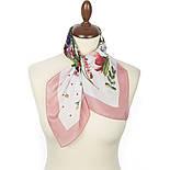 Любимая полянка 10057-3, павлопосадский шейный платок (крепдешин) шелковый с подрубкой, фото 2