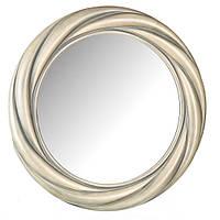 Настенное зеркало в пластиковой раме (диаметр 49см)
