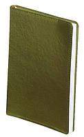 Ежедневник А5 датированный 2018 Buromax Metallic, зеленый (гибкая обложка) (кожа) (кремовый блок) BM.2143-04