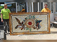 Столещница из мозаики цветного стекла