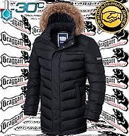 Зимние длинные куртки мужские Braggart - 3155#3156 черный