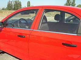 Комплект накладок под окна Шевроле Авео Т200 2002-2008