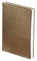 Ежедневник А5 датированный 2018 Buromax Metallic, желтый (гибкая обложка, кожа, кремовый блок) BM.2143-08